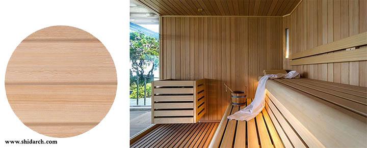 چوب مناسب برای سونا-شیدارک