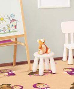 موکت اتاق کودک - طرح ماشا
