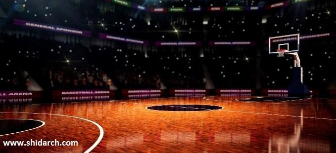 کفپوش زمین بسکتبال شیدارک