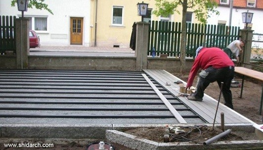 روش اجرای چوب پلاست-شیدارک