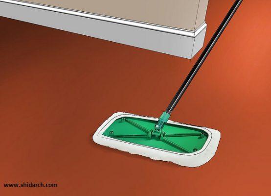 پاک کردن لک کفپوش اپوکسی و نگهداری آن