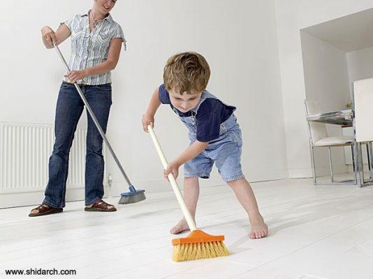 تمیز کردن کفپوش pvc
