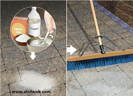 تمیز کردن سنگ کف محوطه و پاسیوها به صورت گام به گام